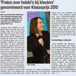 Eindwerk Nina Stoffijn genomineerd voor Klasseprijs